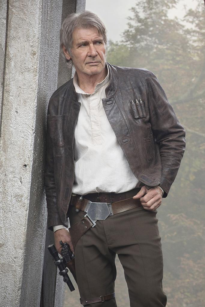 """<p>Reports that suggested Harrison Ford's Han Solo would be a major part of the new movie were accurate, but not all the details were right: <a href=""""http://birthmoviesdeath.com/2014/08/15/exclusive-find-out-about-han-solos-new-ride-in-episode-vii"""" rel=""""nofollow noopener"""" target=""""_blank"""" data-ylk=""""slk:Birth Movies Death"""" class=""""link rapid-noclick-resp"""">Birth Movies Death</a> claimed that the Millennium Falcon was in the hands of Oscar Isaac's character, while Han now flew a Super Star Destroyer ship. (Photo: David James/©Walt Disney Studios Motion Pictures/Lucasfilm Ltd./Courtesy Everett Collection)</p>"""