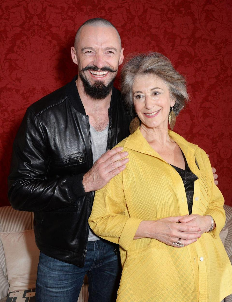 <p>When Hugh Jackman goes for a role, he really <em>goes </em>for it. The Australian actor paired a shaved head with an elaborate goatee for his role as Blackbeard in <em>Pan</em>. </p>