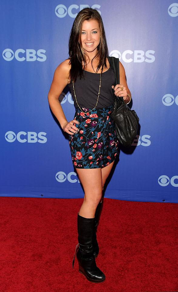 "Parvati Shallow (""<a href=""/survivor-heroes-vs-villains/show/44431"">Survivor: Heroes vs. Villains</a>"") attends the 2010 CBS Upfront at The Tent at Lincoln Center on May 19, 2010 in New York City."