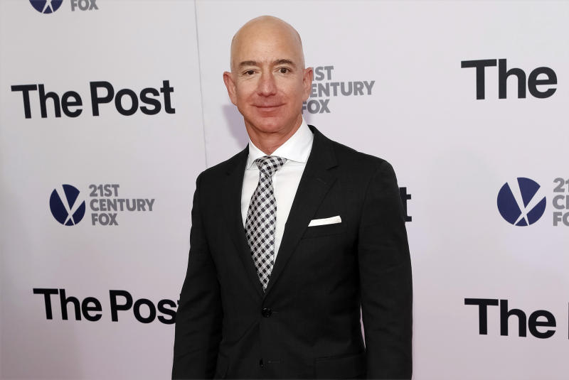 "<p> FILE - In this Dec. 14, 2017, file photo, Jeff Bezos attends the premiere of ""The Post"" at The Newseum in Washington. Private investigators working for Bezos have determined the brother of the Amazon CEO's mistress leaked the couple's intimate text messages to the National Enquirer. That's according to a person familiar with the matter who spoke Monday to The Associated Press. (Photo by Brent N. Clarke/Invision/AP) </p>"