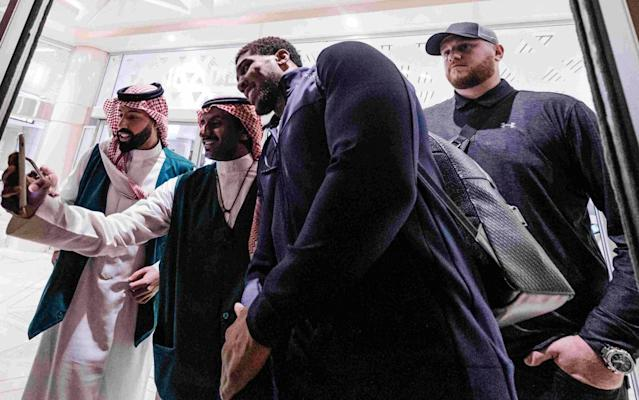 Anthony Joshua arrived in Saudi Arabia last week in preparation for his title fight with Andy Ruiz Jr - PA
