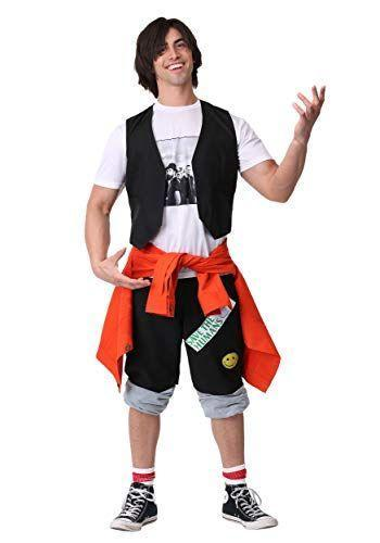 """<p><strong>Fun Costumes</strong></p><p>amazon.com</p><p><a href=""""http://www.amazon.com/dp/B07K4QFYP6/?tag=syn-yahoo-20&ascsubtag=%5Bartid%7C10050.g.22118522%5Bsrc%7Cyahoo-us"""" rel=""""nofollow noopener"""" target=""""_blank"""" data-ylk=""""slk:Shop Now"""" class=""""link rapid-noclick-resp"""">Shop Now</a></p><p>Don't we all need a little more Ted """"Theodore"""" Logan in our lives right now, especially with <em>Bill and Ted Face the Music </em>due out this year? Or, make your own Ted costume, with a <a href=""""https://www.amazon.com/s?k=Mens+Black+Vest"""" rel=""""nofollow noopener"""" target=""""_blank"""" data-ylk=""""slk:black vest"""" class=""""link rapid-noclick-resp"""">black vest</a>, <a href=""""https://www.walmart.com/browse/clothing/mens-t-shirts/white/5438_133197_4237948_3187021/Y29sb3I6V2hpdGUie"""" rel=""""nofollow noopener"""" target=""""_blank"""" data-ylk=""""slk:white tee"""" class=""""link rapid-noclick-resp"""">white tee </a>and <a href=""""https://www.amazon.com/iYYVV-Autumn-Winter-Turn-Down-Camouflage/dp/B07N5LTVX6/ref=asc_df_B07N5LTVX6/?"""" rel=""""nofollow noopener"""" target=""""_blank"""" data-ylk=""""slk:reddish jacket"""" class=""""link rapid-noclick-resp"""">reddish jacket</a> tied around your waist. </p><p><strong>Related</strong>: <a href=""""https://www.countryliving.com/diy-crafts/a28918599/movie-costume-ideas/"""" rel=""""nofollow noopener"""" target=""""_blank"""" data-ylk=""""slk:10 Best Movie Costume Ideas for a Star-Studded Halloween"""" class=""""link rapid-noclick-resp"""">10 Best Movie Costume Ideas for a Star-Studded Halloween</a></p>"""