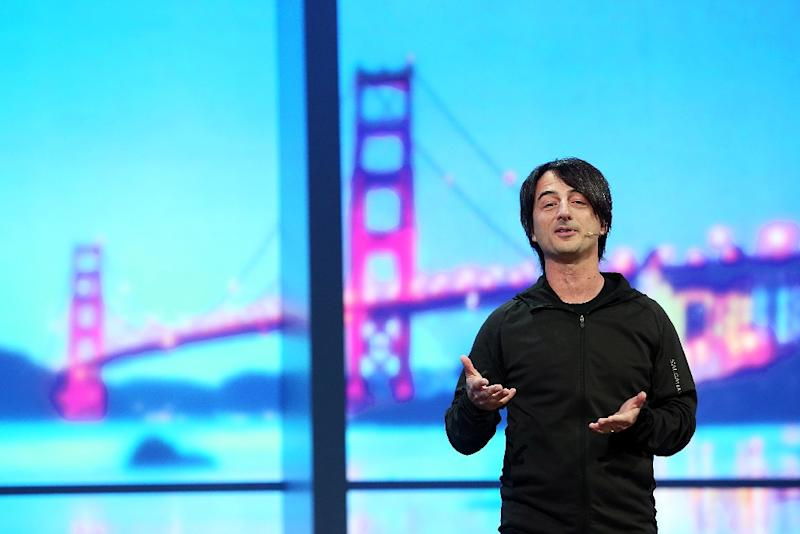 Joe Belfiore, Microsoft vice president, delivers a keynote address at the 2014 Microsoft Build developer conference on April 2, 2014 in San Francisco (AFP Photo/Justin Sullivan)