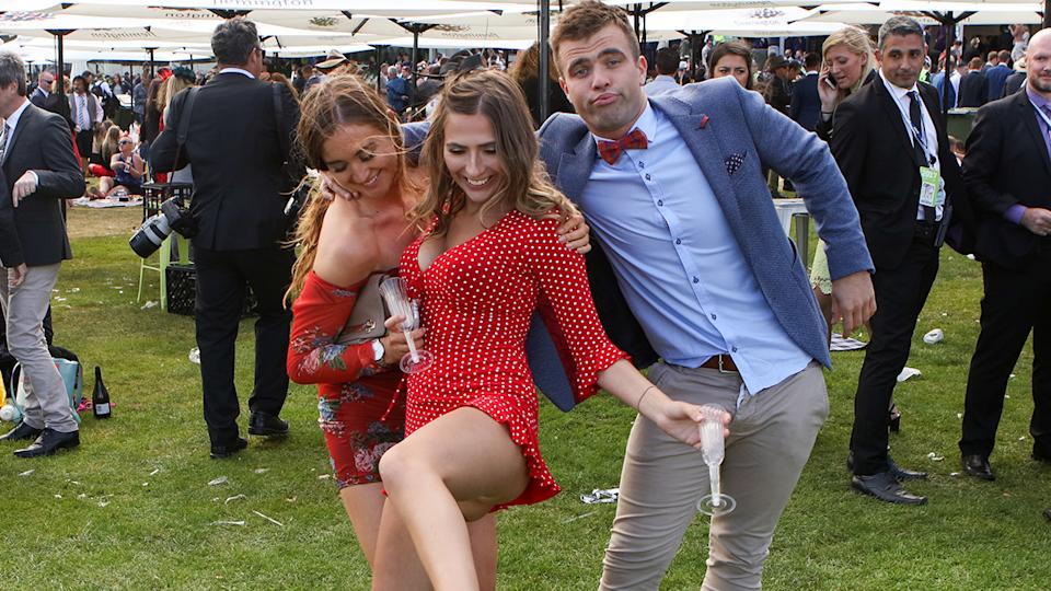 Punters, pictured here at the end of Melbourne Cup day in 2017.