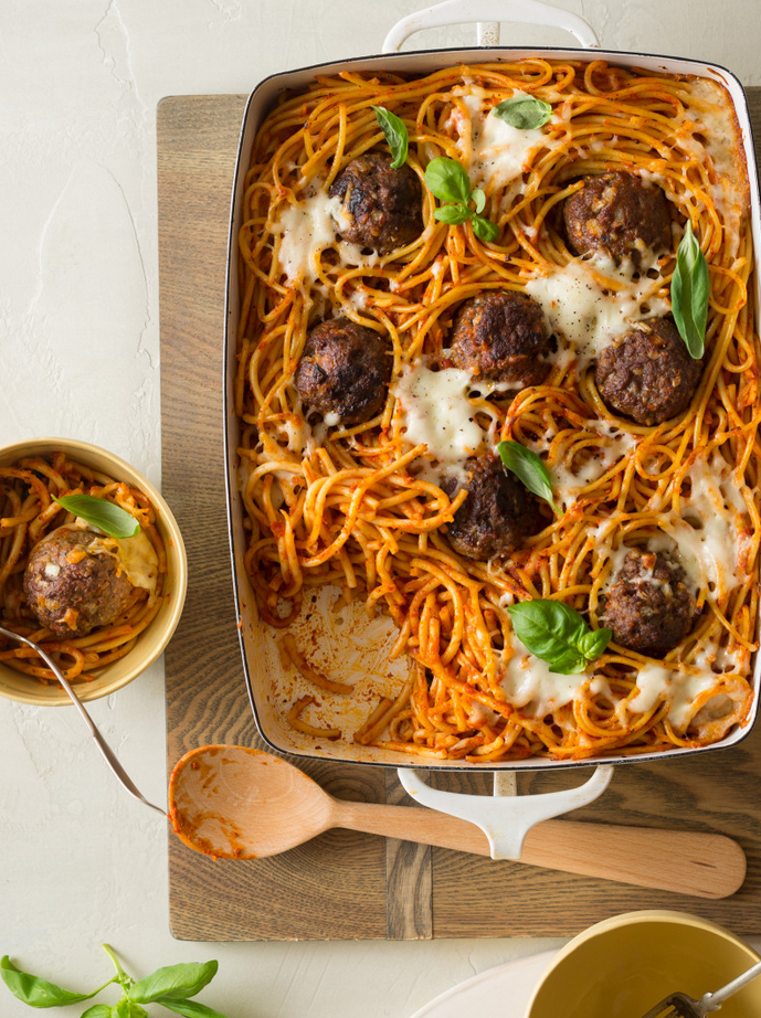 """<p>Why bake the noodles? For the crispy, buttery and cheesy crust<span class=""""redactor-invisible-space""""> of course.</span></p><p><span class=""""redactor-invisible-space""""><em><a href=""""http://www.spoonforkbacon.com/2015/12/baked-bucatini-meatballs/"""" rel=""""nofollow noopener"""" target=""""_blank"""" data-ylk=""""slk:Get the recipe from Spoon Fork Bacon »"""" class=""""link rapid-noclick-resp""""><span class=""""redactor-invisible-space"""">Get the recipe from Spoon Fork Bacon »</span> </a></em><br></span><span class=""""redactor-invisible-space""""><br></span></p>"""