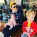 <p>Koma grabbed some ice cream with Luca and Banks in January 2019. </p>