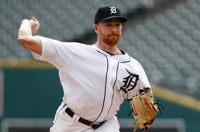 Detroit Tigers pitcher Spencer Turnbull throws against the Minnesota Twins in the first inning of a baseball game in Detroit, Wednesday, Sept. 19, 2018. (AP Photo/Paul Sancya)
