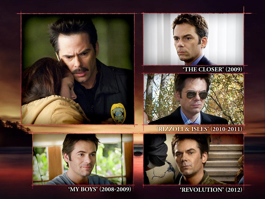 "<b>Billy Burke (Charlie Swan)<br><br></b>With what may be the longest TV resume of all of ""The Twilight Saga"" stars, Billy Burke has been popping up in various roles on the small screen since 1994, when he appeared in an episode of ""<a>Star Trek: Deep Space Nine</a>."" Early in his career, he could be seen in anything from Margaret Cho's quickly-canceled sitcom ""<a>All-American Girl</a>"" (1995) to Fox's tear-jerking family drama ""<a>Party of Five</a>"" (1994, 1996). In 2003, he captured the hearts of ""<a>Gilmore Girls</a>"" fans as Lorelai's coffee-loving boyfriend, Alex Lesman, and, at the same time, was hard at work on seven episodes of ""<a>24</a>"" (2002-2003). <br>Billy later made guest appearances on ""Monk"" (2004), ""Law & Order"" (2007), and ""Fringe"" (2008). Since ""Twilight's"" premiere back in 2008, Billy has guest-starred on Kyra Sedgwick's super-popular procedural ""The Closer"" (2009), appeared in a handful of episodes of ""My Boys"" (2008-2009), had a short-lived role as Special Agent Gabriel Dean on TNT's ""Rizzoli & Isles"" (2010-2011), and starred in NBC's break-out post-apocalyptic drama ""Revolution"" (2012)."