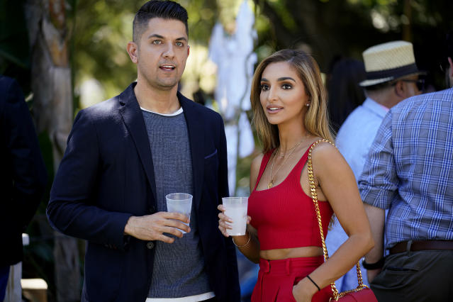 Nema Vand with co-star Sara Jeihooni on Shahs of Sunset. (Getty Images)