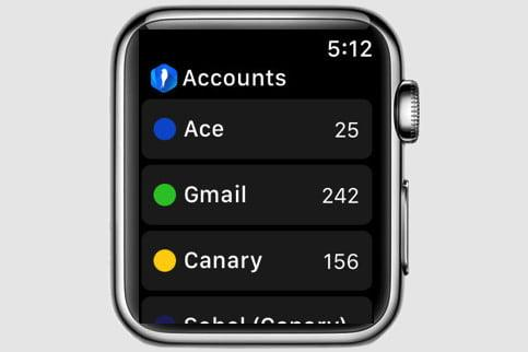 best apple watch apps canary mail screen