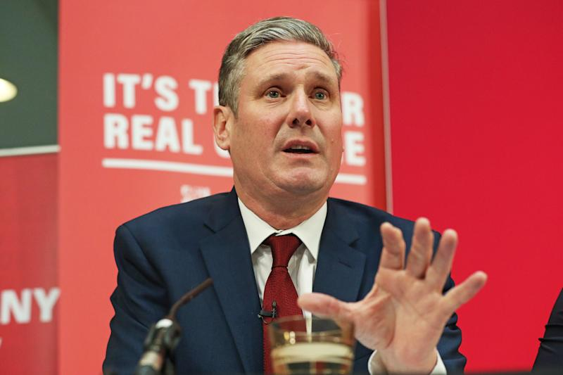 Shadow Brexit secretary Keir Starmer during a Labour Party press conference in central London.