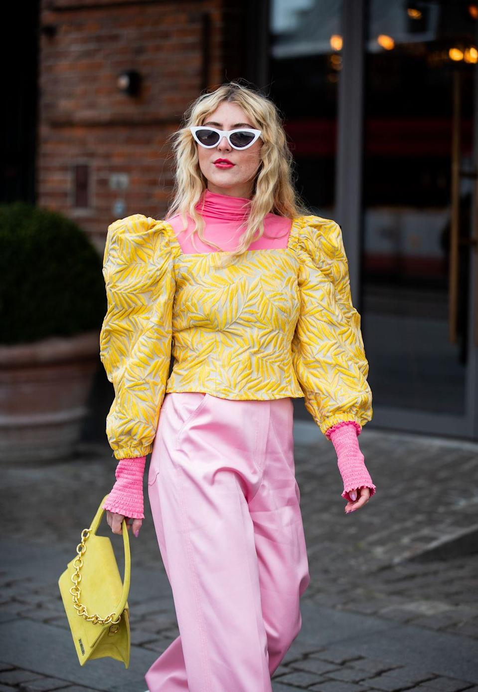 <p>The ideal item for layering when the weather can't make up it's mind, hold on to your thinner roll neck tops so you can pop them underneath summery blouses with big puff shoulders and billowy sleeves. Extra springtime points for bright colours.</p>