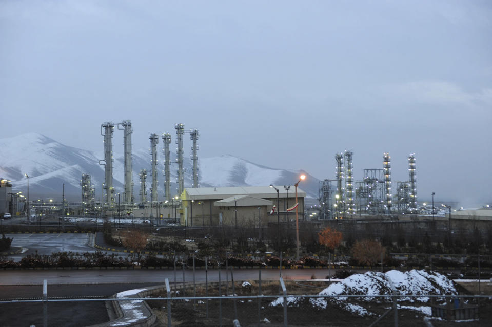"FILE - This Jan. 15, 2011 file photo shows Arak heavy water nuclear facilities, near the central city of Arak, 150 miles (250 kilometers) southwest of the capital Tehran, Iran. In a statement after a virtual meeting on Friday, April 2, 2021, the chair of a group of high-level officials from the European Union, China, France, Germany, Russia, Britain and Iran said the participants ""emphasized their commitment to preserve the JCPOA and discussed modalities to ensure the return to its full and effective implementation."" (AP Photo/ISNA, Hamid Foroutan, File)"