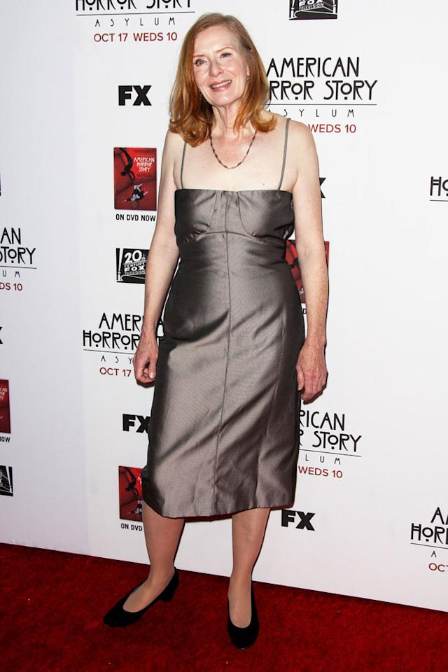 "Frances Conroy attends the ""American Horror Story: Asylum"" premiere held at Paramount Studios on October 13, 2012 in Hollywood, California."