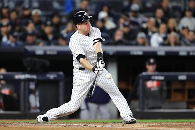 "<a class=""link rapid-noclick-resp"" href=""/mlb/players/8629/"" data-ylk=""slk:Todd Frazier"">Todd Frazier</a> is staying in New York but ditching the pin stripes, according to a report. (AP)"