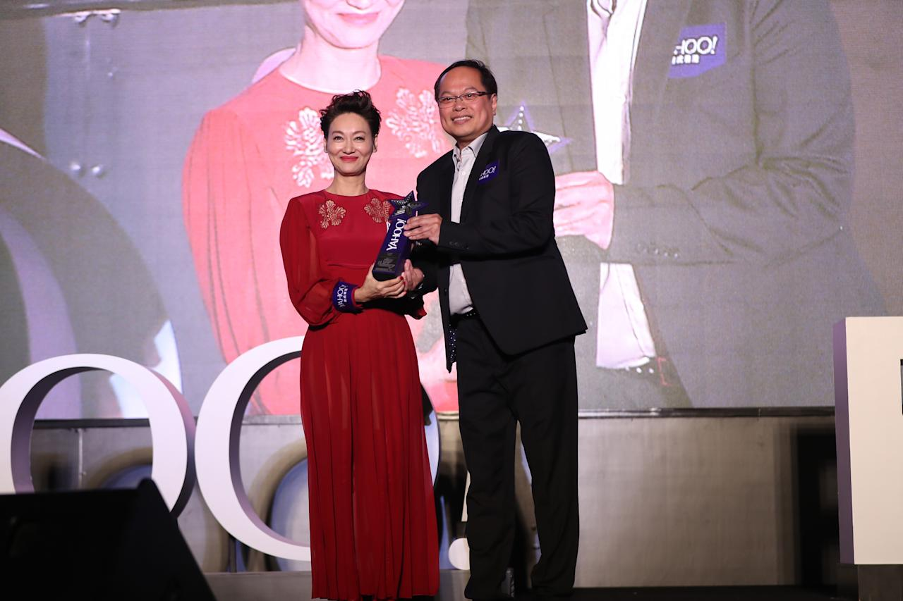 <p>Kara Wai wins Top Buzz Local Actress at the Yahoo Asia Buzz Awards 2017 in Hong Kong on Wednesday (6 December).</p>
