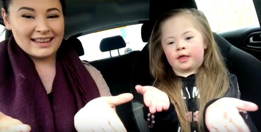 Mums and their children with Down's syndrome separately filmed themselves. (Photo: YouTube)