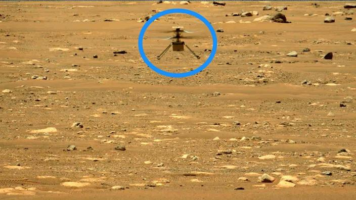 ingenuity second flight mars helicopter