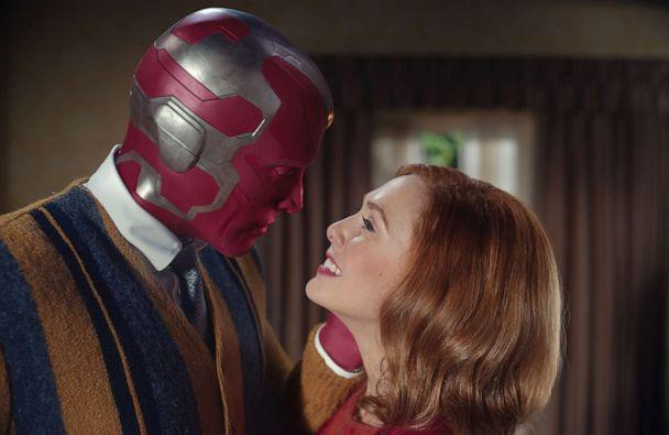 PHOTO: Paul Bettany and Elizabeth Olsen star as Vision and Wanda, respectively, on 'WandaVision' for Disney+. (Disney)
