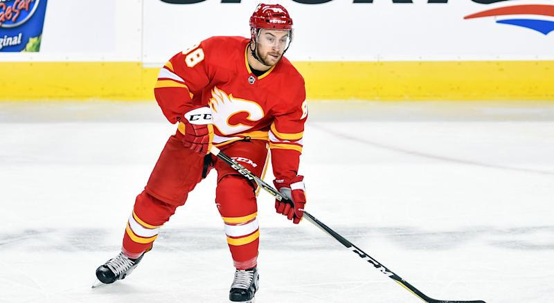Andrew Mangiapane has signed a deal with the Calgary Flames. (Photo by Brett Holmes/Icon Sportswire via Getty Images)