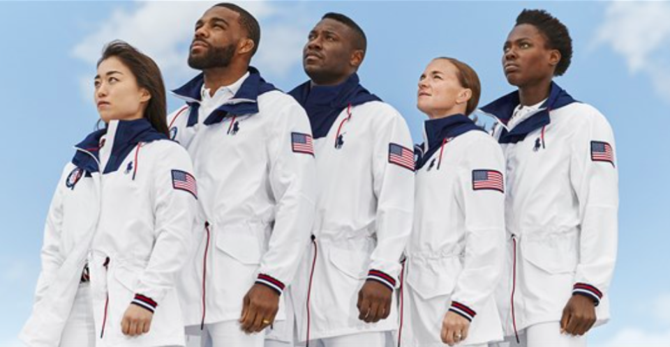 TEAM USA's wardrobe for the 2020 Olympics in Tokyo designed by Ralph Lauren. (Image via Ralph Lauren).