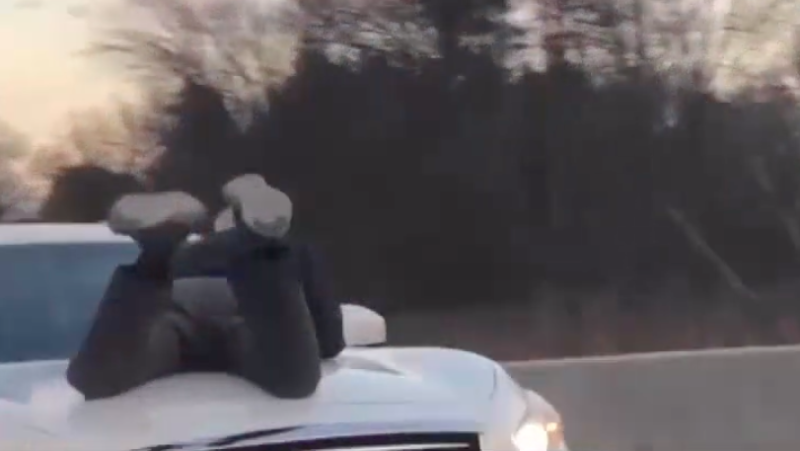 Man Clings to Moving SUV in Rage Episode Caught on Video