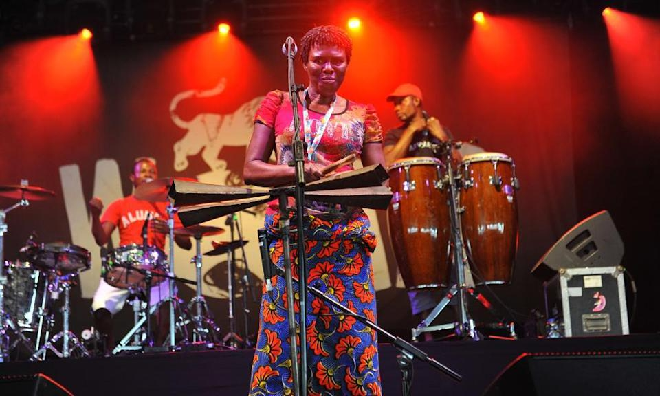 Konono No 1 perfom at the Womad in 2016.