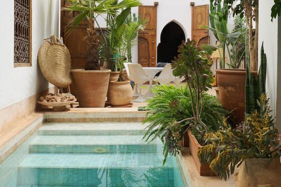 A cool and calming colour palette characterises Riad UP (Riad UP)