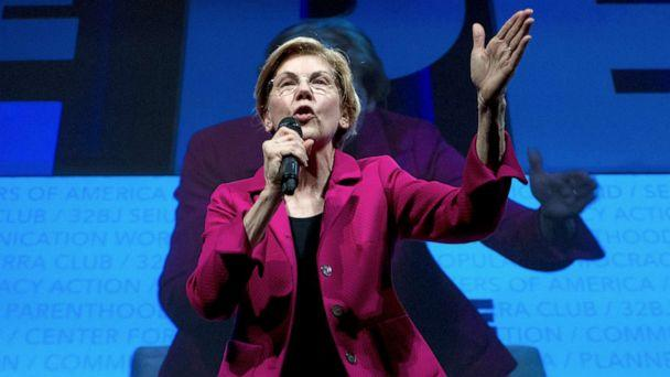 PHOTO: In this April 1, 2019, file photo, Democratic presidential candidate Sen. Elizabeth Warren, speaks in Washington. (Jose Luis Magana/AP)