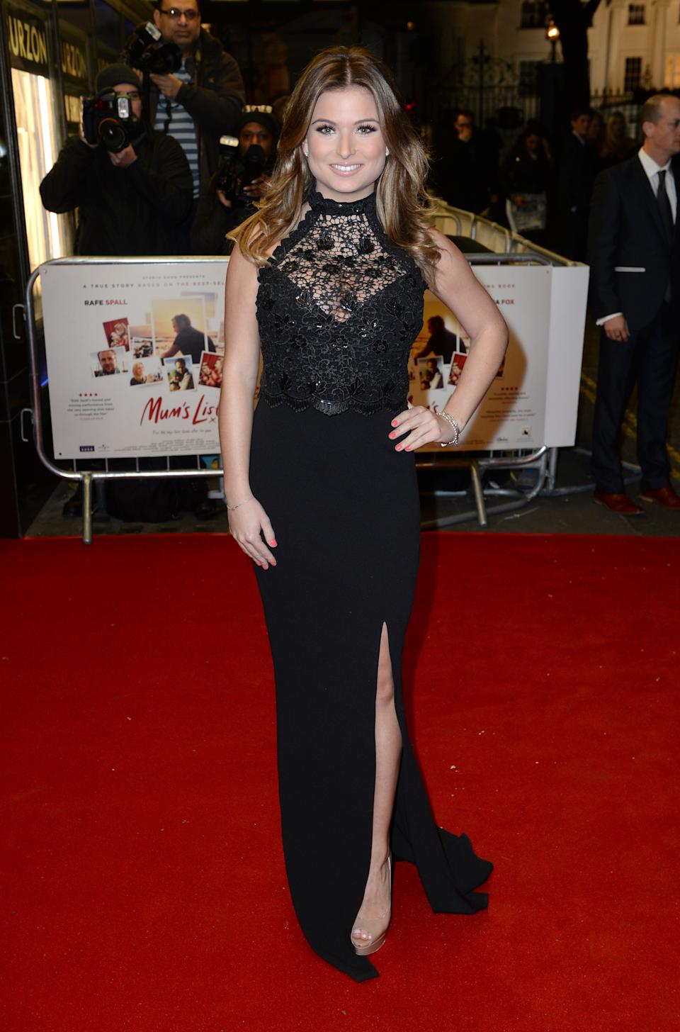 Zara Holland arriving at the UK Premiere of Mum's List, Curzon Cinema, London. Photo credit should read: Doug Peters/EMPICS Entertainment