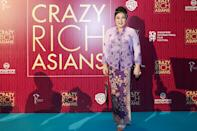 <p>Singaporean actress Koh Chieng Mun poses for photographers at the Singapore premiere of 'Crazy Rich Asians' on 21 August 2018. (PHOTO: Yahoo Lifestyle Singapore) </p>