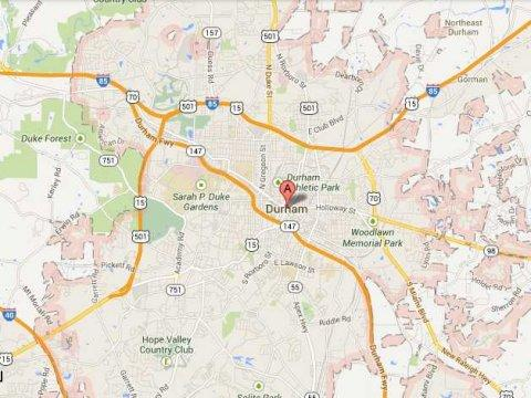 Google map Raleigh-Durham North Carolina