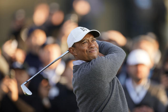 When Tiger Woods tees off at the Memorial Tournament at Muirfield Village this week, he'll have two of golf's biggest stars alongside him. (AP/Ryan Kang)