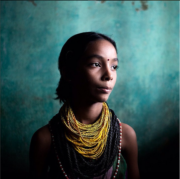 Portrait of an young Halakki girl