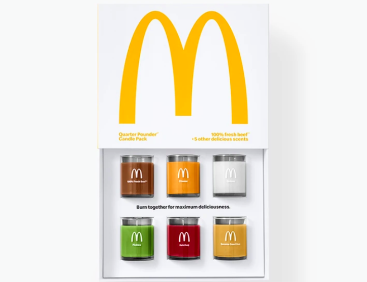 McDonalds is launching a range of scented candles (Golden Arches Unlimited)