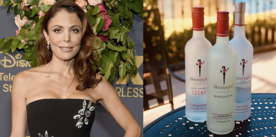 """<p>The empire built by this reality star is nothing short of impressive. Even though Frankel sold her pre-mixed skinny margarita (a blend of Blue Agave Silver Tequila sweetened with agave nectar) to a large company in 2011 for $100 million, no one will ever forget the impact this low-cal bev has had on the celebrity liquor scene. Here's to guilt-free drinking!</p><p><a class=""""link rapid-noclick-resp"""" href=""""https://go.redirectingat.com?id=74968X1596630&url=https%3A%2F%2Fwww.reservebar.com%2Fcollections%2Fskinnygirl&sref=https%3A%2F%2Fwww.delish.com%2Ffood%2Fg32949671%2Fcelebrity-alcohol-brands%2F"""" rel=""""nofollow noopener"""" target=""""_blank"""" data-ylk=""""slk:BUY NOW"""">BUY NOW</a> <em><strong>$21, reservebar.com</strong></em></p>"""