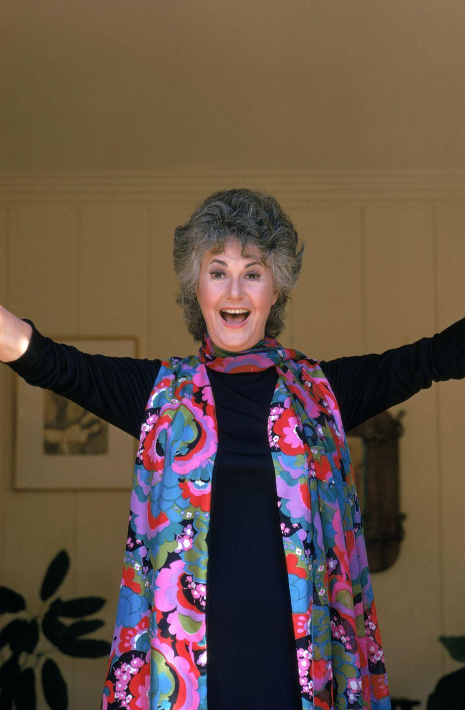 <p>Known for playing some more serious characters, its nice to see Bea Arthur looking so jovial. </p>