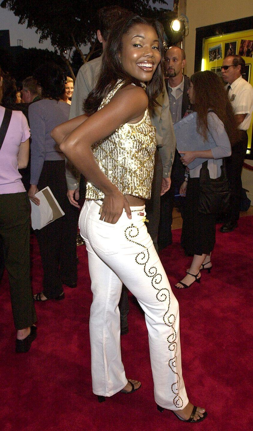 <p>Gabrielle def brought *it* in a pair of bedazzled white pants to the premiere of her movie <em>Bring It On</em>.</p>