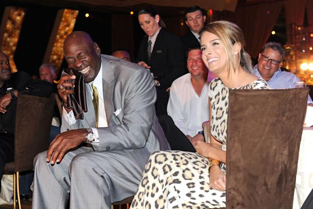 LAS VEGAS, NV - MARCH 30: Charlotte Bobcats owner Michael Jordan and fiancee Yvette Prieto attend the 11th annual Michael Jordan Celebrity Invitational gala at the Aria Resort & Casino at CityCenter March 30, 2011 in Las Vegas, Nevada. (Photo by Ethan Miller/Getty Images for MJCI)