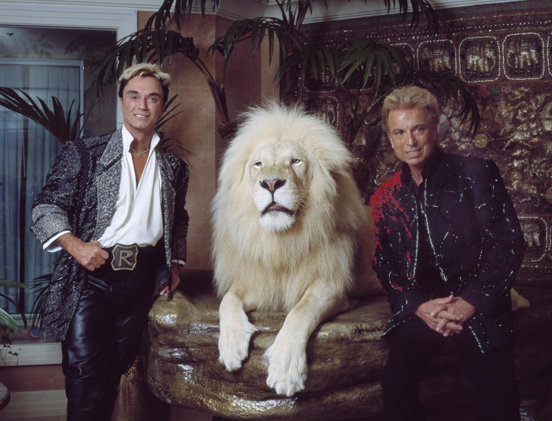 Roy Horn (L), depicted with Siegried Fischbacher, of the iconic magic group Siegfried & Roy, died on May 8, 2020 of complications from COVID-19.