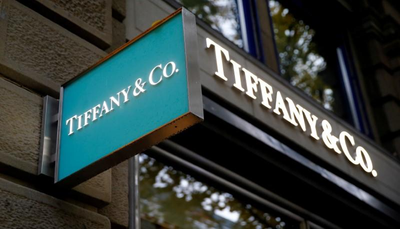 Logo of U.S. jeweller Tiffany & Co. is seen at a store in Zurich