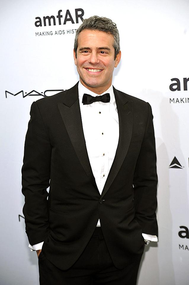 NEW YORK, NY - FEBRUARY 06: Andy Cohen attends the amfAR New York Gala to kick off Fall 2013 Fashion Week at Cipriani Wall Street on February 6, 2013 in New York City. (Photo by Bryan Bedder/Getty Images for FIJI Water)