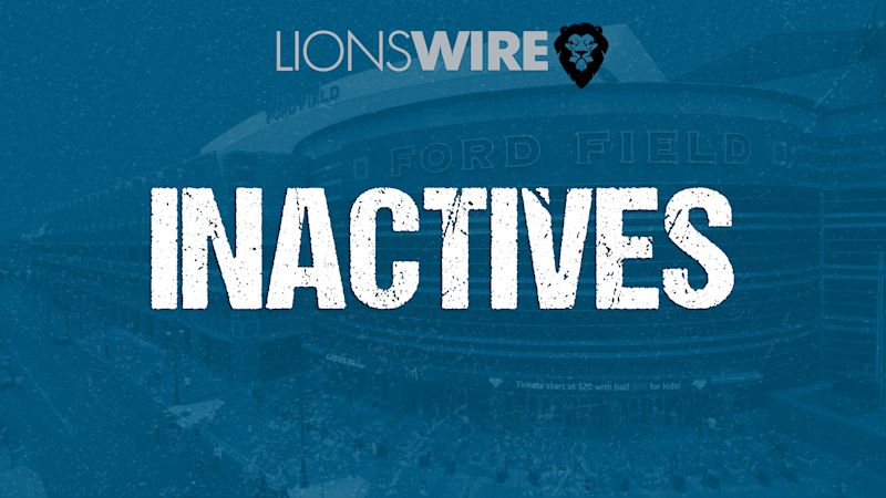 Detroit Lions Week 3 inactives: Kenny Golladay ACTIVE