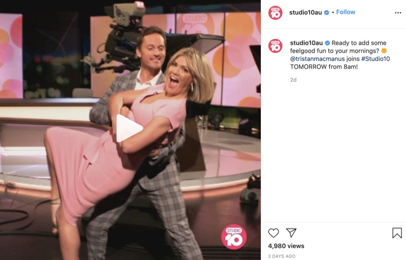 The program's Instagram page doesn't allow any comments, positive or negative. Photo: Instagram/studio10au