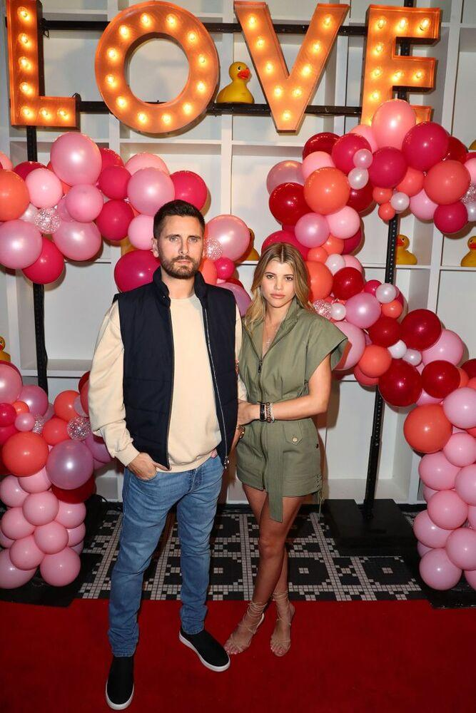 Scott Disick and Sofia Richie celebrate Valentine's Day in 2019 | Joe Scarnici/Getty