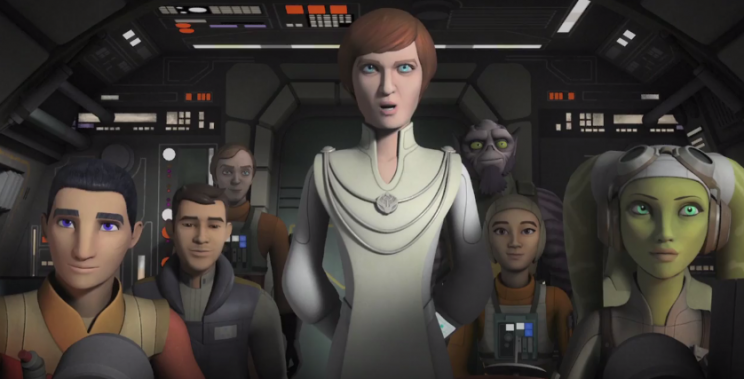 Mon Mothma addresses the Alliance (Disney/Lucasfilm)