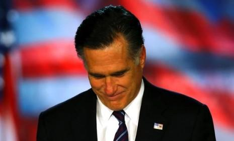 Mitt Romney pauses during his concession speech on Nov. 6: After coming up well short in battles for the Senate and White House, the GOP has some serious soul-searching to do.