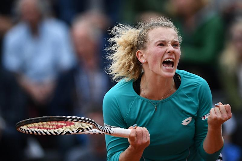 Scream and shout Katerina Siniakova faces Naomi Osaka on Saturday