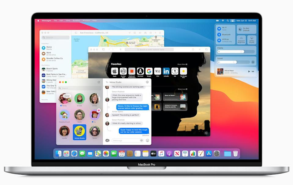 Apple's newest version of macOS, Big Sur, was designed specifically to function with the new M1 chip. (Image: Apple)