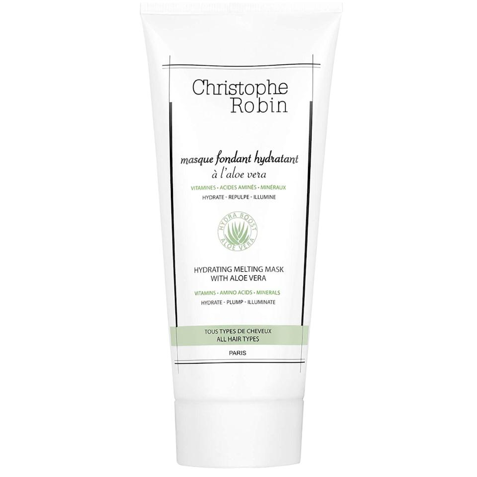 """<p>""""The <span>Christophe Robin Hydrating Melting Mask With Aloe Vera</span> ($37) is my personal favorite,"""" said POPSUGAR assistant editor Kara Kia. """"It has incredible slip for detangling coarser curl textures, plus it's light enough for use as a leave-in conditioner, but hydrating enough for the most moisturized, shiny, and defined curls of your life in only a few minutes (compared to most deep conditioners that require 20 minutes to penetrate the hair shaft). I love this stuff so much that I had to cut open the bottle and scoop the very last drop."""" The best part? It's made of 98 percent natural ingredients and contains absolutely no parabens, silicones, or SLES.</p>"""